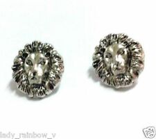 Hot Occident Popular Fashion Retro Silver Metal Lion Head Ear Stud Earring