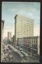 POSTCARD MEMPHIS TENNESSEE MAIN ST NORTH BUSINESS STORE FRONT/TROLLEY CARS 1907
