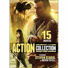 NEW 15 Action Movies Featuring Steven Seagal in Driven to Kill (DVD)