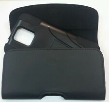 MOTOROLA DROID TURBO XL BELT CLIP HOLSTER POUCH FIT WITH A HYBRID CASE ON PHONE