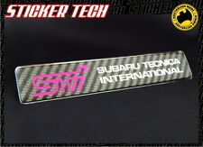 STI SUBARU TECNICA INTERNATIONAL CARBON FIBRE GEL BADGE EMBLEM SUITS GC8 WRX GDB