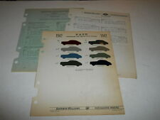 1942 NASH PAINT CHIP CHART COLORS SHERWIN WILLIAMS PLUS MORE