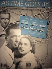 AS TIME GOES BY MUSIC SHEETS FROM CASABLANCA  *FIRST EDITION*