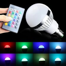3W E14 RGB LED Bulb Light Lamp 16 Colors Change With 24 Key Remote Control great