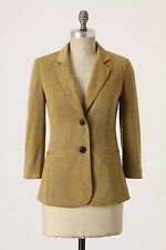 ANTHROPOLOGIE CARTONNIER TO A TEE BLAZER JACKET YELLOW JERSEY KNIT XS 18997023