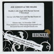 (GS445) Joe Gideon & The Shark, DOL / Harum Scarum - 2008 DJ CD