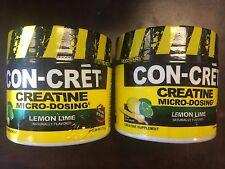 CON-CRET 144 servings !  BEST Creatine HCL Micro Dosing lemon lime CONCRET