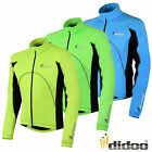 New Mens Cycling Softshell Windstopper Full Sleeve/Zip Jacket Reflective Warm