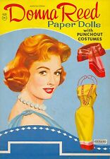 VINTAGE UNCUT 1964 DONNA REED PAPER DOLLS ~HD LASER REPRODUCTION~LO PR~HI QUA