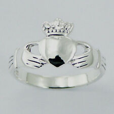 USA Seller Plain Claddagh Ring Sterling Silver 925 Best Deal Jewelry Size 8