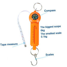 Mini Multifunctional  Scale with tape measure and compass Fishing Weight Scale