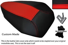 RED & BLACK CUSTOM FITS DUCATI PANIGALE 1199 LEATHER REAR PILLION SEAT COVER
