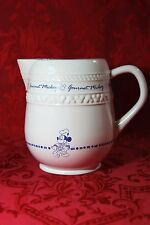"""Gourmet Mickey Mouse Disney Ceramic Tea / Water Pitcher White & Blue 7"""" Tall"""