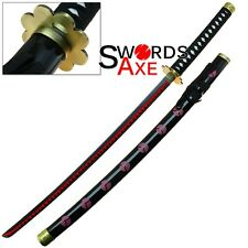 Roronoa Zoro's Shusui One Piece Anime Sword Red Hamon 3 Swordsaman Pirate Hunter
