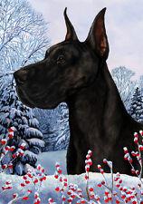 Garden Indoor/Outdoor Winter Flag - Black Great Dane 151501