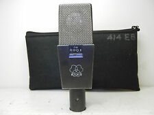 AKG C414 EB VINTAGE CLASSIC CONDENSER MICROPHONE WITH POUCH LQQK AS IS  !