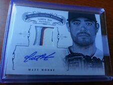 2012 NATIONAL TREASURES MATT MOORE RC GAME-USED JERSEY PATCH AUTO #1/8!