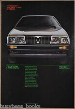 1984 MASERATI BITURBO advertisement, Maserati Biturbo sports car