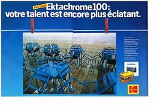 Publicité Advertising 1985 (2 pages) Film Diapositive Ektachrome Kodak
