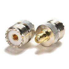 Adapter SO239 UHF female jack to SMA female RF connector straight 3CC - UK