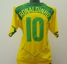 Brazil Shirt RONALDINHO 10 Adult (M) 2004/2006 World Cup Home Football Jersey