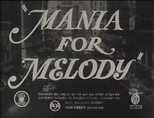 MANIA FOR MELODY 1940 (DVD)  RUTH TERRY, JOHNNY DOWNS