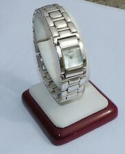 LADIES CROTON STERLING SILVER MOTHER OF PEARL FASHION WATCH LOT126