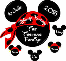 Personalized Pirate Disney Cruise Magnet, Customized