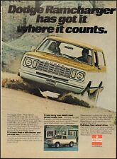 1976 Vintage ad for Dodge Ramcharger Truck retro Yellow/white Photo(101016)
