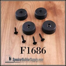 Penn F1686 4pc large rubber speaker cabinet feet with screws