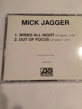 MICK JAGGER WIRED ALL NIGHT PROMO COMPACT DISC 2 TRACKS B/W OUT OF FOCUS