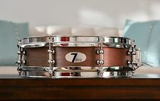 "NEW 3.5"" x 12"" 7drums Custom Piccolo Snare Drum - Texas Aged Mocha Stain"