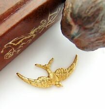 BRASS (2 Pieces) SOARING BIRD Stampings - Victorian Findings (FA-6025) `