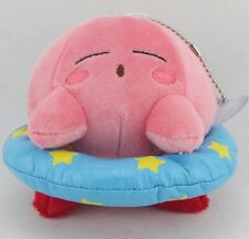 "Kirby Plush 5""(13cm) Stuffed Pink Kirby with Blue Ring Triple Deluxe Pretty Doll"