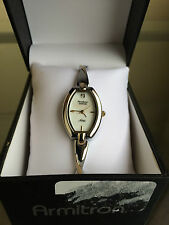 newstuffdaily: NIB ARMITRON Diamond Dial Two Tone Ladies Watch FREE SHIP