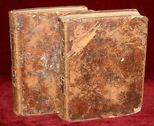 DICCIONARIO ESPAÑOL FRANCES (2 TOMOS) COMPLETO. AÑO 1803. LIBRERÍA BRUYSET
