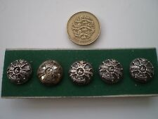 Derbyshire Regiment Victorian Officers Silver Mounted Dress Buttons