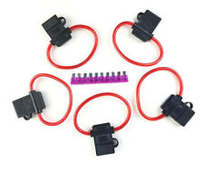 5 Pack 10 Gauge Red In-line ATC Fuse Holder + 35A AMP Fuse New Car Truck Install