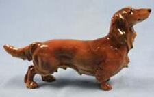 Dackel  Porzellanfigur hund hundefigur Teckel porzellanhund Hutschenreuther 1970