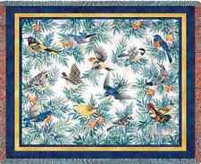 RAINBOW SONG BIRDS SONGBIRDS TAPESTRY THROW AFGHAN BLANKET 70x54
