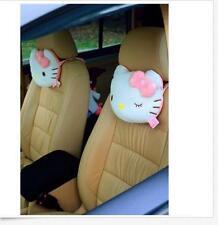 2x Cute Hello Kitty Seat Head/Neck Rest Cushion Pillows Auto Car Accessories E