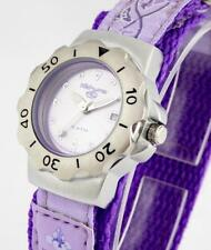 KAHUNA GIRL'S OR WOMEN'S LILAC DIAL FLOWER PATTERN NYLON STRAP WATCH -AK009
