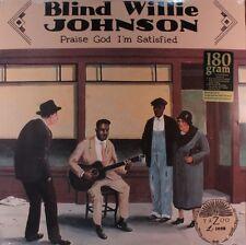 Blind Willie Johnson PRAISE GOD I'M SATISFIED 180g Yazoo Records NEW VINYL LP