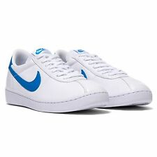 NIKE Bruin QS Leather 70's Retro Casual Shoes 842956 003 White Blue Mens Size 13