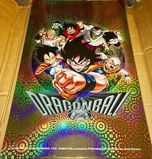 "Dragon Ball Z DBZ Poster HOLO Foil 1999 VTG RARE 34"" x 22"" NEW Old Stock"