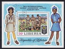 Pfadfinder Scout Liberia Block 1971, Jamboree Japan, Uniformen