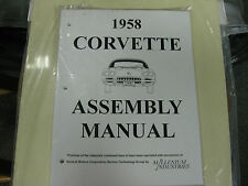 1958 CORVETTE (ALL MODELS) ASSEMBLY MANUAL