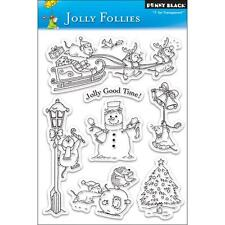 JOLLY FOLLIES-Penny Black Clear Art Acrylic Stamps-Stamping Craft-Christmas