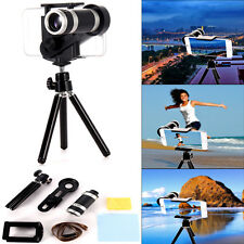 8X Zoom Camera Telephoto Telescope Lens+Mount Stand Tripod for Smart Cell Phone