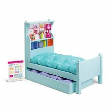 "American Girl MY AG BOUQUET BED SET for 18"" Dolls Wood Lamp Accessories Trundle"